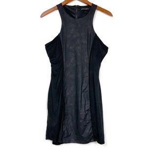 Caribbean Queen Black Faux Suede Racerback Dress